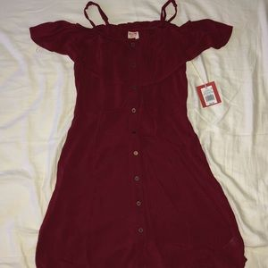 A maroon summer dress